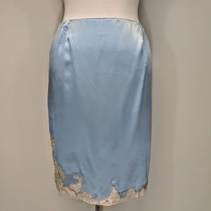 Dkny Skirts - DKNY Silk Satin & Lace Skirt